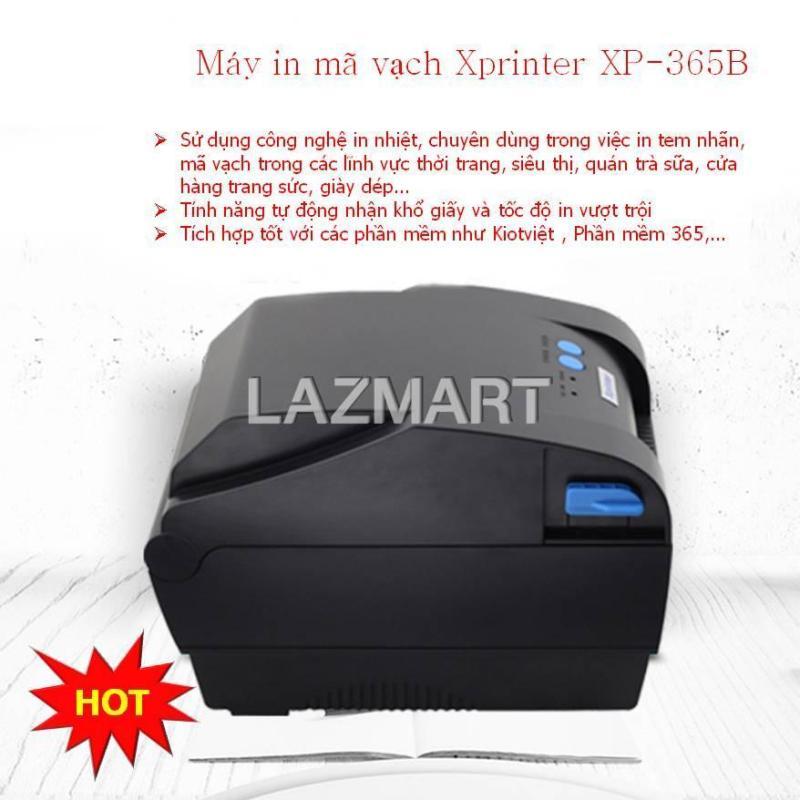 Máy in nhãn, Máy in tem mã vạch,Máy in đa năng Xprinter XP-365B , Tốc độ in cực nhanh, Chất lượng in rõ nét, Kiểu dáng gọn nhẹ, Tích hợp nhiều phần mềm, bảo hành lâu dài tại Landmark