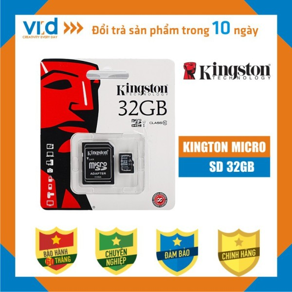 [QUÀ TẶNG] Thẻ Nhớ KINGTON MICRO SDHC 32GB - Bảo hành 5 năm
