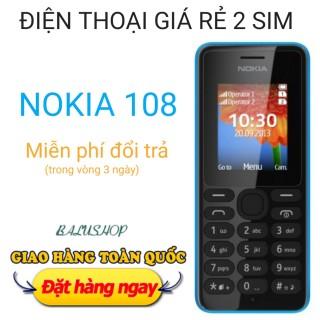 Điện thoại Nokia 108 giá rẻ, màu Xanh + Đen, hàng công ty kèm phụ kiện đầy đủ thumbnail