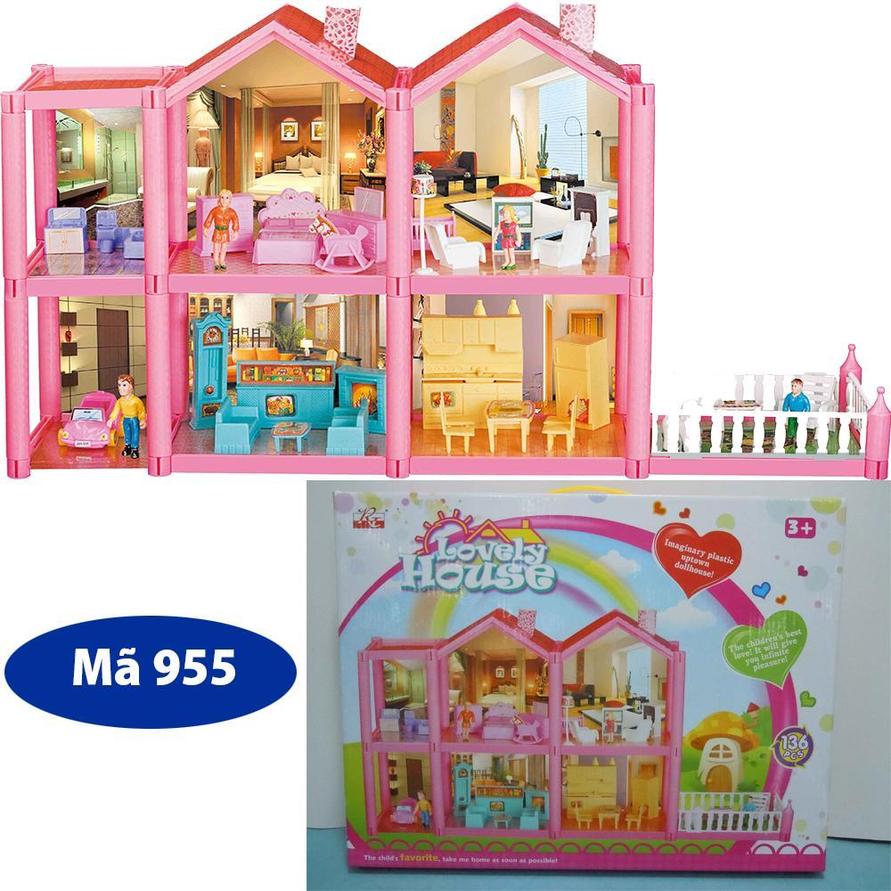 Mã Khuyến Mại Mô Hình Nhà Búp Bê Cỡ Lớn Cho Các Bé Chơi Đồ Chơi Barbie