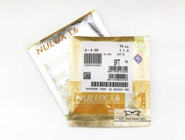 Giá bán Tròng kính Cận Hoya Nulux có độ mỏng , chính hãng Hoya của Nhật ( chiết xuất 1.61)