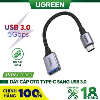 Bộ chuyển đổi USB type C sang USB 3.0 hỗ trợ OTG UGREEN 70889 thumbnail