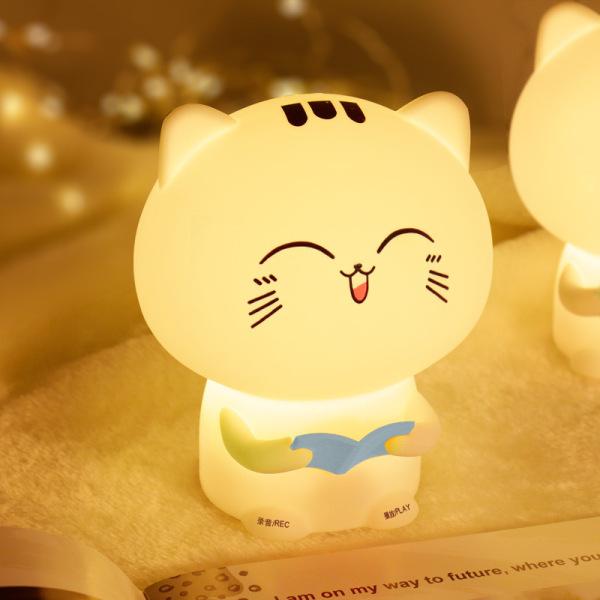 Bảng giá Đèn ngủ Silicon mèo con đáng yêu (Có 2 loại: không có chức năng ghi âm và có chức năng ghi âm)