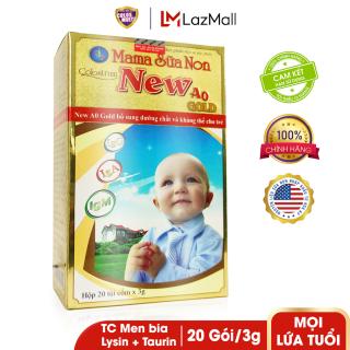 Sữa bột tăng cường tiêu hóa và sức đề kháng New A0 Gold hộp 20 túi x 3g thumbnail