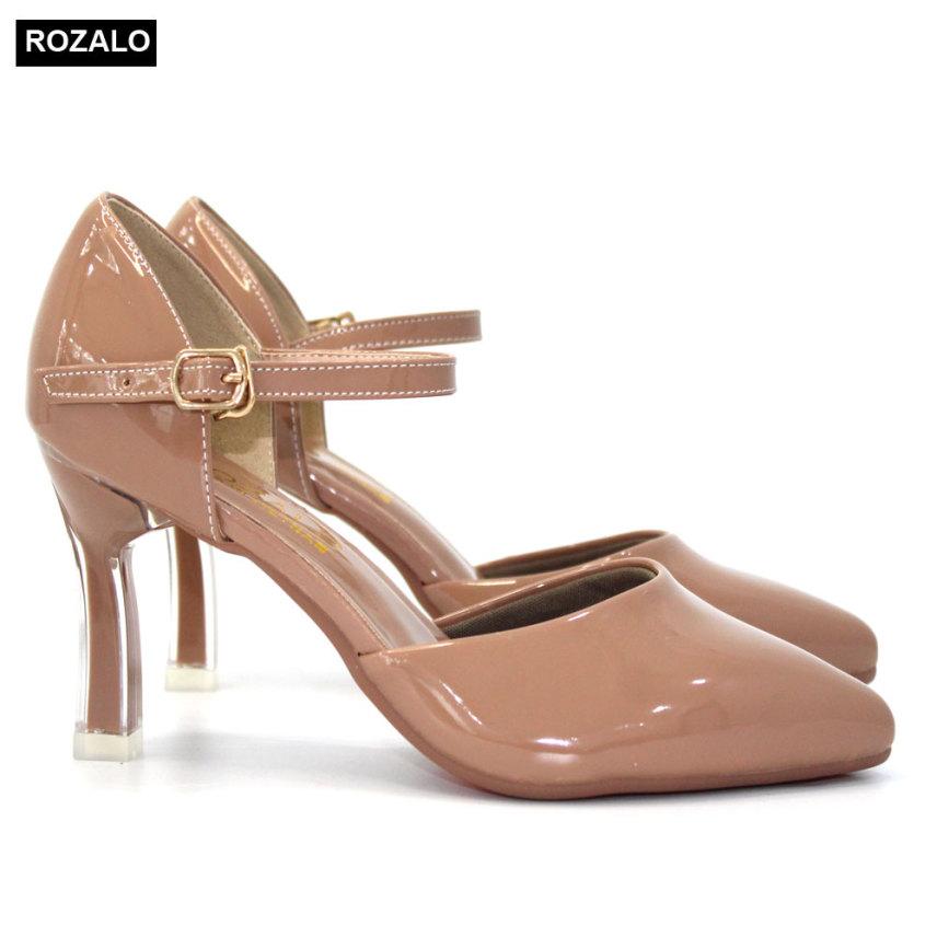 Giày cao gót nữ 7P quai ngang mảnh Rozalo R6517 giá rẻ