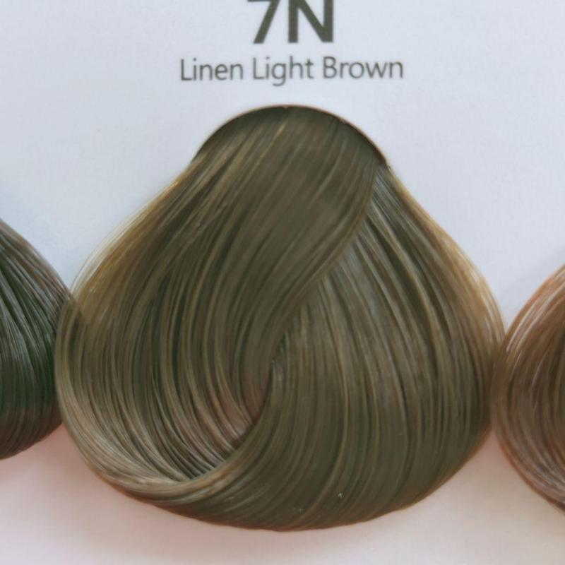 Thuốc nhuộm tóc màu Nâu tây  (không tẩy tóc) (kèm trợ nhuộm và găng tay) giá rẻ
