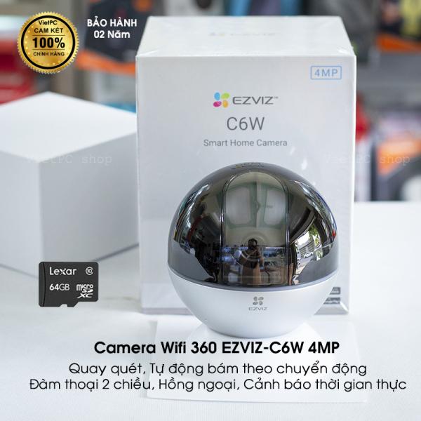 Camera WIFI EZVIZ C6W 4.0MP 2K Siêu nét, Xoay 360 độ, Công nghệ Chống ngược sáng thực True-WDR cho hình ảnh rõ nét Có 4 mã quý khách vui lòng chọn đúng mã mình mong muốn