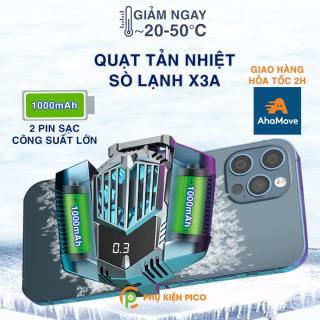 Quạt tản nhiệt điện thoại sò lạnh X3A pin sạc 2000mAh - Quạt sò lạnh X3A pin sạc không dây thumbnail
