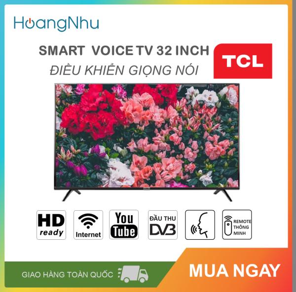 Bảng giá Smart Voice Tivi TCL 32 inch Kết nối Internet Wifi, Điều khiển giọng nói L32S6500 (HD Ready, Android 8.0, Bluetooth, truyền hình KTS,  tặng Remote thông minh, Màu đen)
