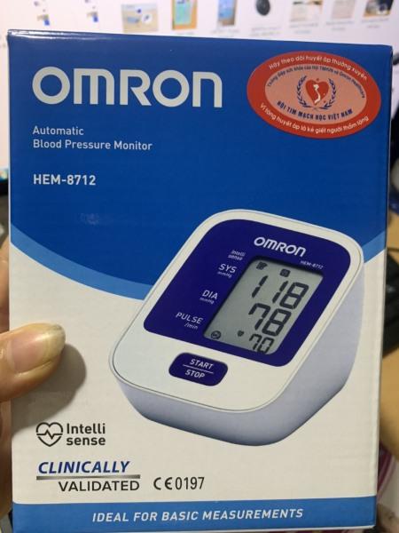 Nơi bán Máy đo huyết áp tự động bắp tay omron Hem-8712( bảo hành 5 năm)