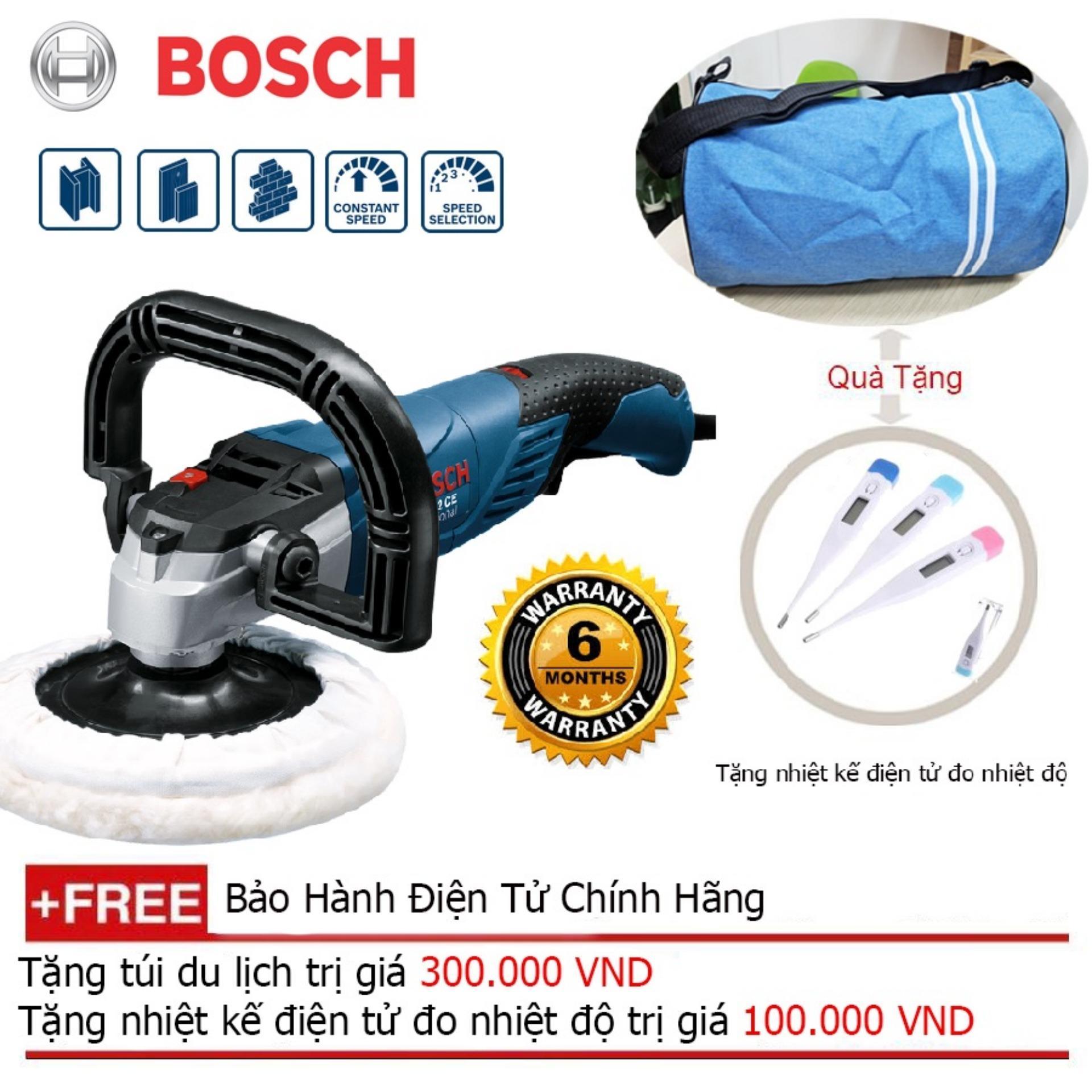 Máy đánh bóng Bosch GPO 12 CE Professional (Xanh) + Quà tặng balo du lịch