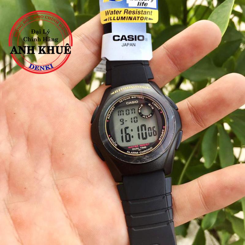 [CAO CẤP] Đồng hồ nam dây nhựa Casio Standard Anh Khuê F-200W-9ADF