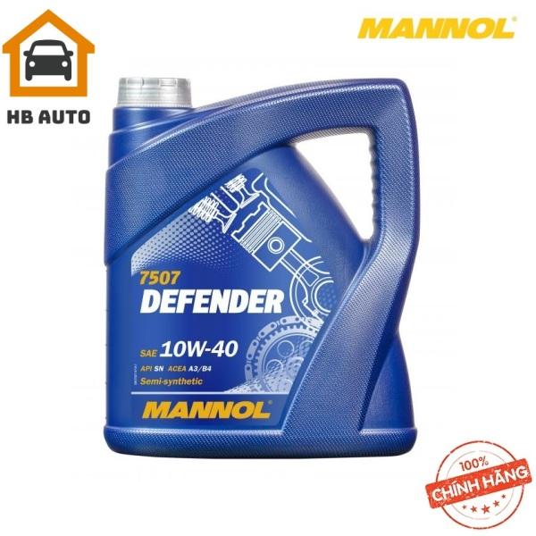 [Cao Cấp] Nhớt MANNOL 7507 Defender 10W-40 SL/CF –  4Lít Hàng Đức Chính Hãng –HB AUTO