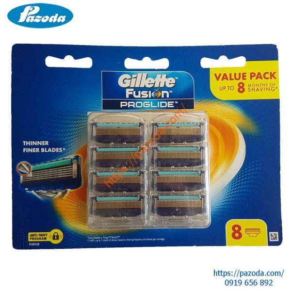 Hộp 8 lưỡi dao cạo râu Gillette Fusion Proglide giá rẻ