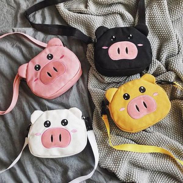 Giá bán [GIÁ HỦY DIỆT] Túi đeo chéo con heo đựng vừa điện thoại và các vật dụng nhỏ nhỏ xinh xinh