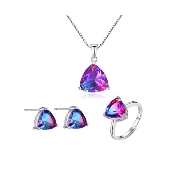 [FLASH SALE] Bộ Trang Sức Đá Cầu Vồng BNT-601 Bảo Ngọc Jewelry
