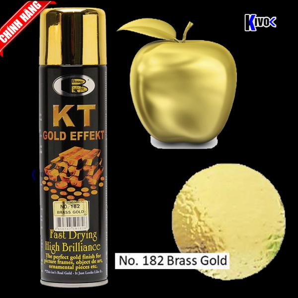 Bình Sơn Xịt Mạ Vàng 18k 24k KT Bosny Màu 182 Brass Gold - Bình Sơn Phun Mạ Vàng Giả Vàng - Kivo