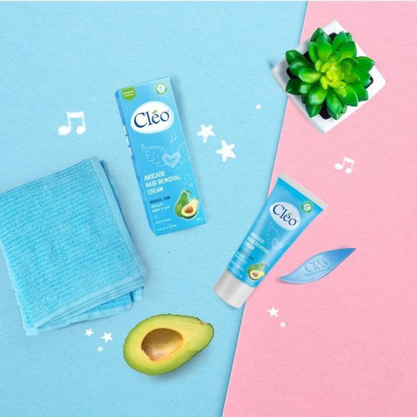 Kem Tẩy Lông Cho Da Thường Cleo 50g Avocado Hair Removal Cream Normal Skin
