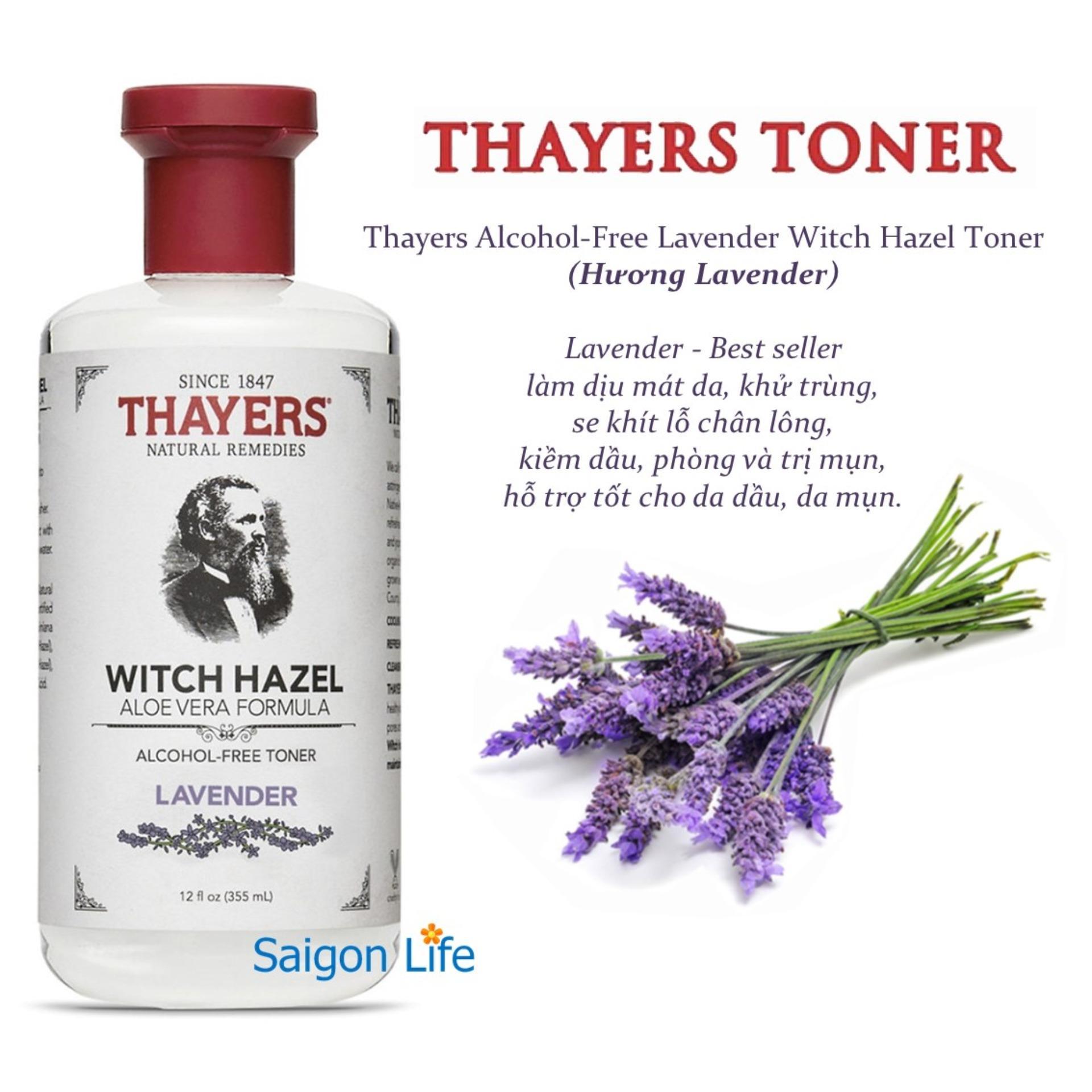 Nước Hoa Hồng Không Cồn Thayers Lavender (Oải Hương) 355ml (Dành cho da dầu, da có mụn)