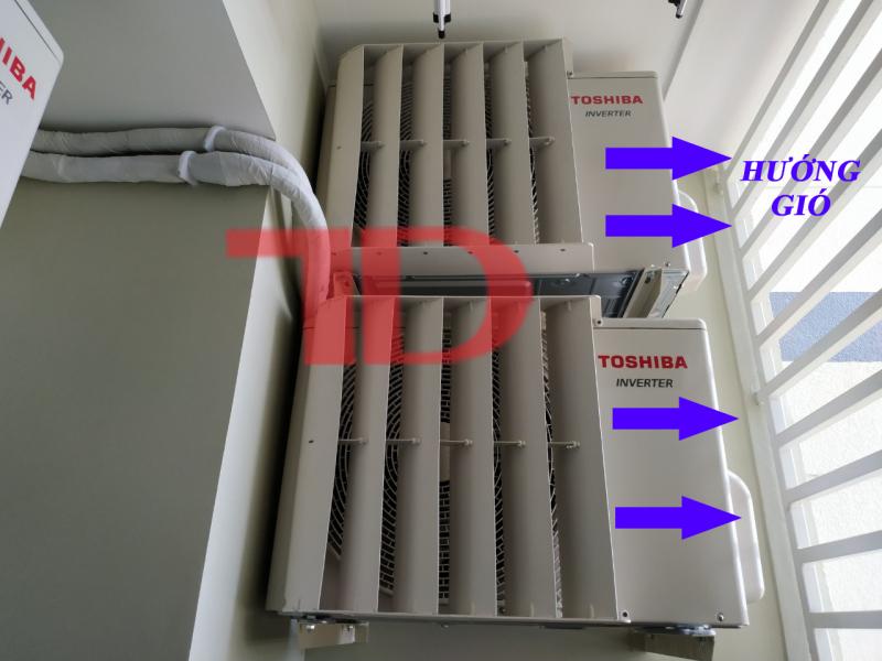 Chuyển hướng gió dàn nóng điều hòa từ 1HP đến 1.5HP, mặt nạ LOUVER chuyển hướng gió bằng sắt hoặc nhựa cao cấp Thái Lan