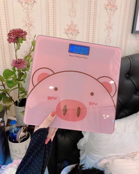 Cân điện tử heo hồng