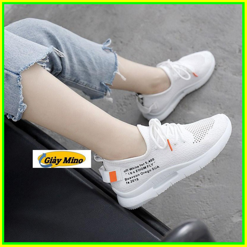 Giày Vải màu trắng mới nhất giày mino giá rẻ