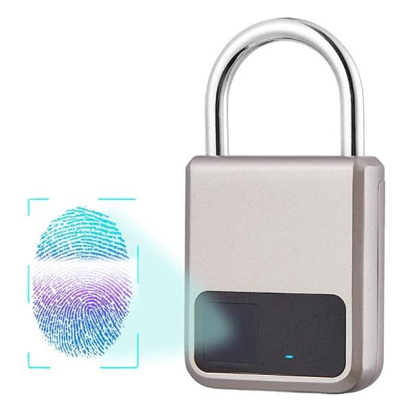 Fingerprint Padlock, Suitable for House Door, Bookcase, Suitcase, Backpack, Gym, Bike, Office, Support USB Charging