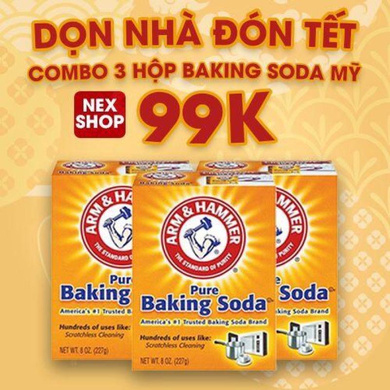 COMBO 3 HỘP BAKING SODA MỸ - CHUYÊN TẨY RỬA KIM LOẠI