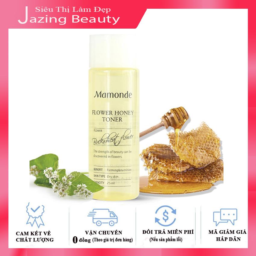 [Hàng Auth] [Da Khô] Nước Hoa Hồng Dưỡng Da Săn Chắc Với Chiết Xuất Từ Mật Ong Mamonde Flower Honey Toner 25ml