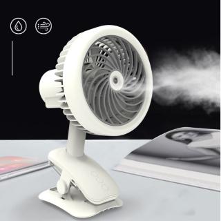 Quạt Hơi Nước Mini Phun Sương Tích Sạc Điện Có Kẹp Để Bàn Tiện Lợi Như Máy Lạnh Điều Hòa Mini Di Động thumbnail