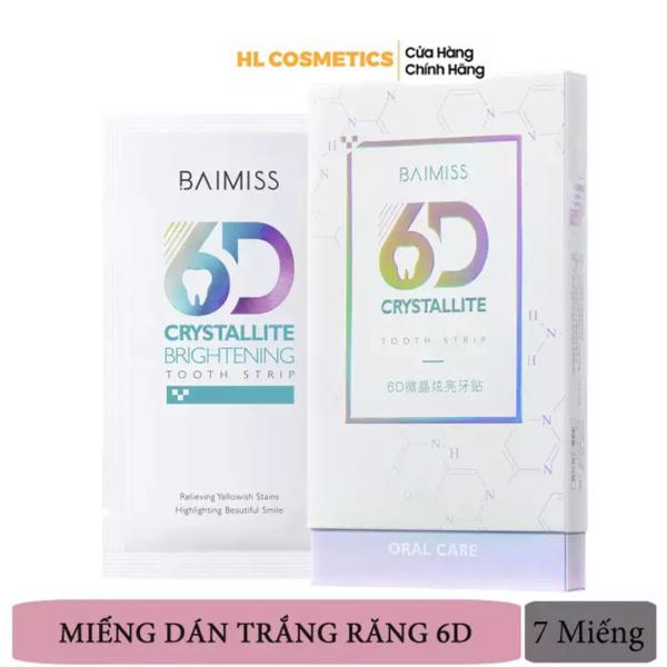 Miếng Dán Trắng Răng BAIMISS 6D Crystallite 7 miếng/hộp