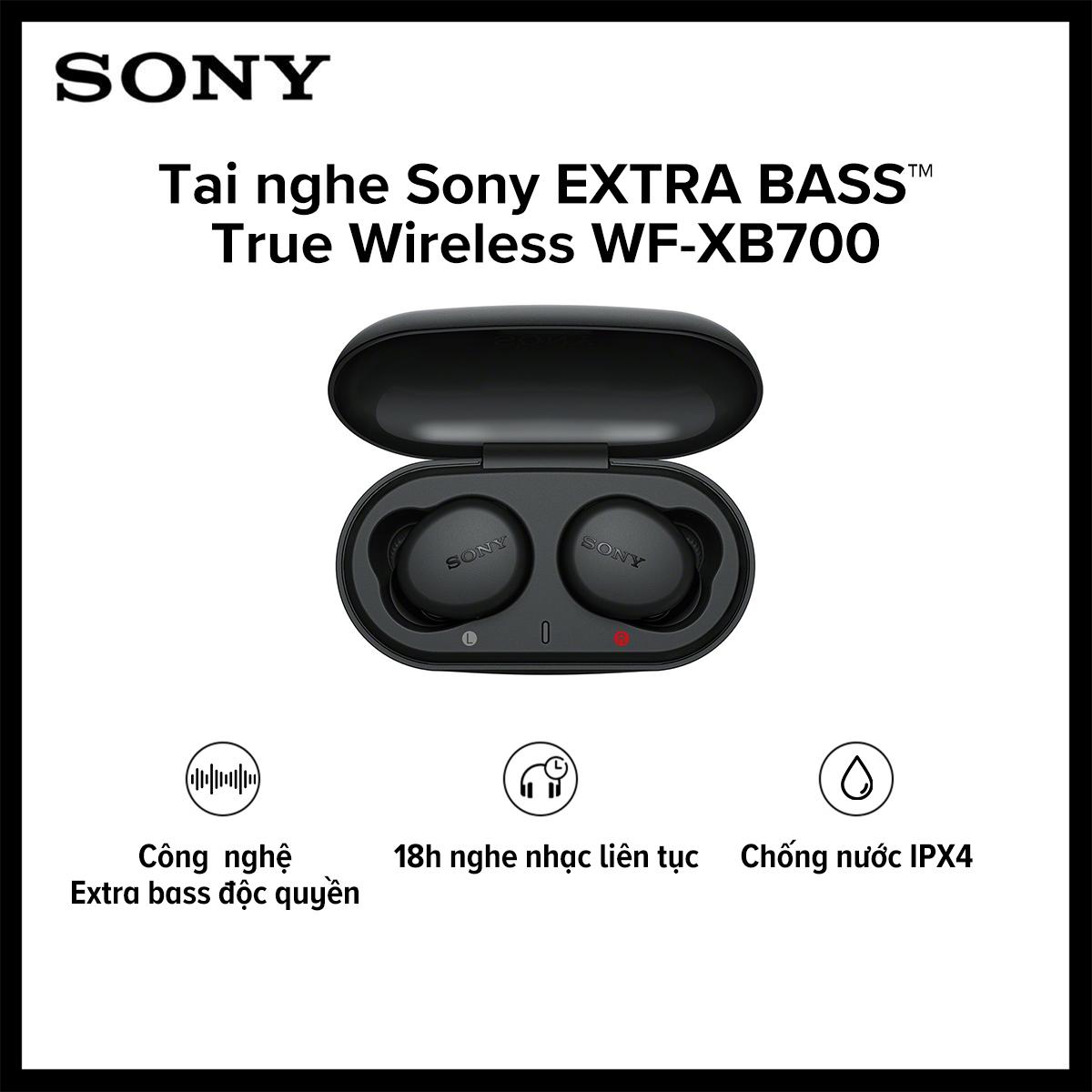 Tai nghe True Wireless Sony WF-XB700 l Công nghệ EXTRA BASS™ l Google Assistant l Chống nước IPX4 l Pin 18h l HÀNG CHÍNH HÃNG