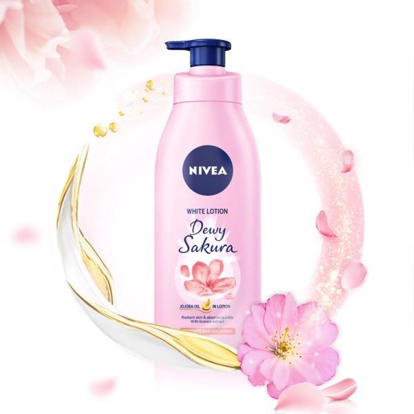 Sữa Dưỡng Thể Nivea Dưỡng Sáng Da Dewy Sakura Hương Hoa Anh Đào 350ml giá rẻ