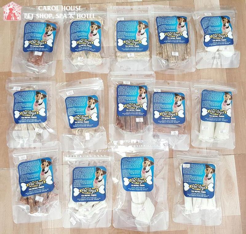 [Mua 1 tặng 1 sản phẩm cùng loại] Bánh thưởng Xương Da Bò Cho Chó nhai Giúp Làm Sạch Răng Và Hàm Khỏe Mạnh