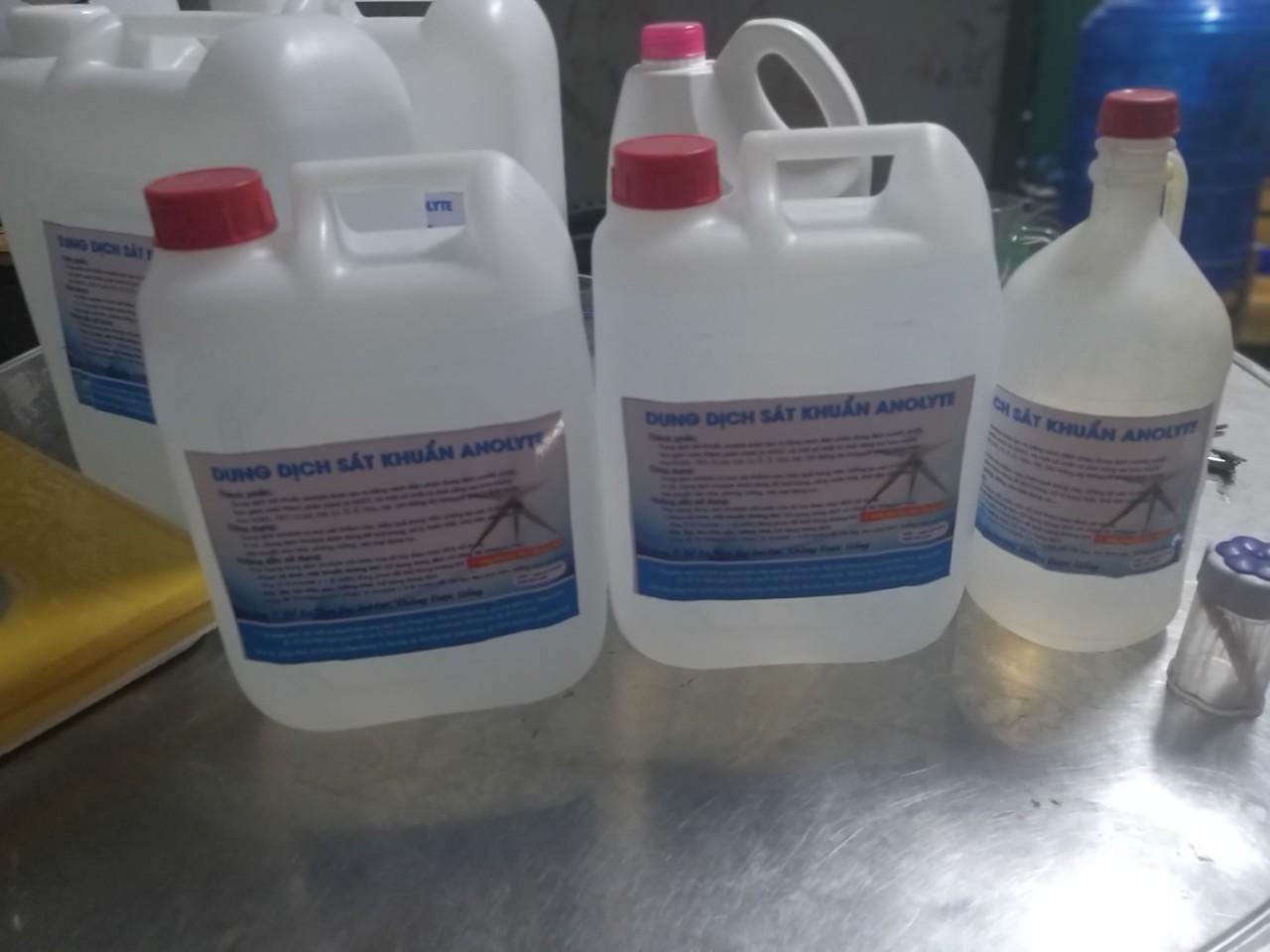 Dung dịch sát khuẩn anolyte 5lit cao cấp