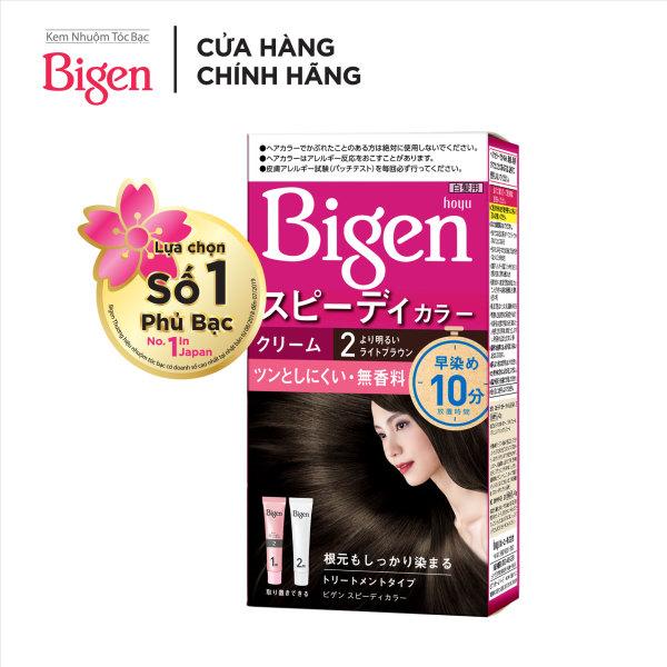 [MUA 2 TẶNG 1 QUÀ TẶNG - NGÀY 12.12] Thuốc nhuộm tóc phủ bạc dạng kem Bigen Speedy Color Cream 80ml