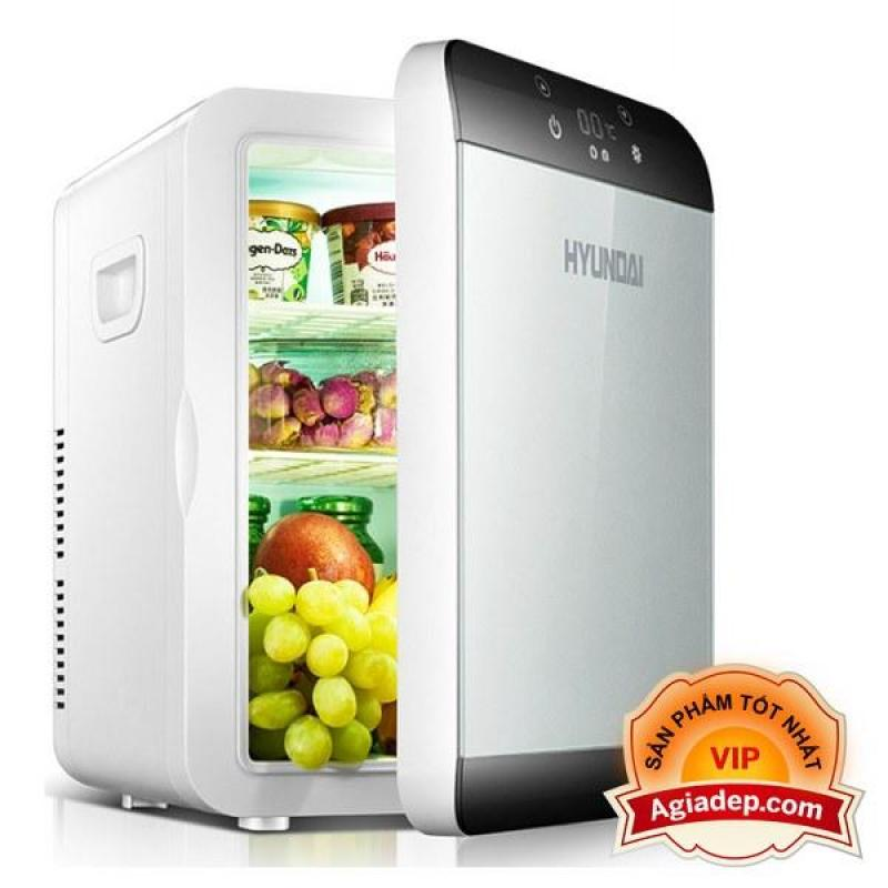 Tủ lạnh, tủ mát mini Xe hơi Hyundai (Cắm được cả trong nhà hoặc oto) Mặt LED điều khiển điện tử (Đa năng) Agiadep.com - 13.5 Lít
