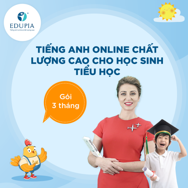 Bảng giá Khóa học Tiếng Anh online chất lượng cao cho học sinh Tiểu Học Edupia - Thời gian 3 tháng Phong Vũ