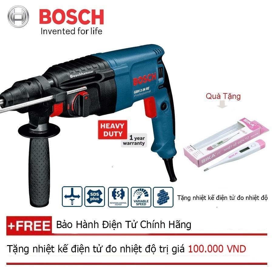 Máy khoan bê tông Bosch GBH 2-26 RE + Quà tặng nhiệt kế điện tử