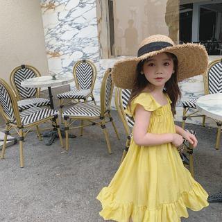 Zhihuida Váy Bé Gái 1-7 Tuổi, Đầm Tay Bay Ngọt Ngào Cho Trẻ Em Đầm Phong Cách Kỳ Nghỉ Cho Bé Gái Mùa Hè Váy Trẻ Em Váy Công Chúa Váy Cho Bé Gái