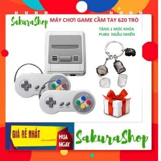 Máy Chơi Game SUPER NES Classic Phiên Bản Máy SNES Mini SFC Retro Đôi tay cầm chơi game Tích Hợp 620 trò, máy chơi game cầm tay 4 nút, máy chơi game ( màu xám) thumbnail