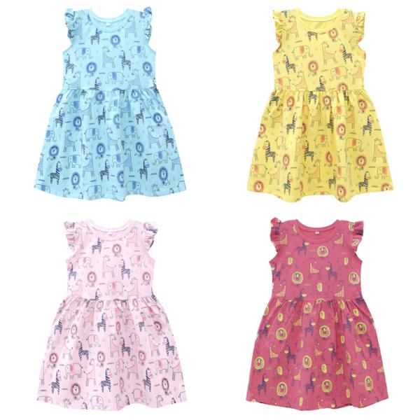 Giá bán Đầm bé gái [ Hỗ Trợ Vận Chuyển ] Váy bé gái 95% COTTON, 5% SPANDEX, BAO ĐỔI TRẢ 1-1, MEEJENA