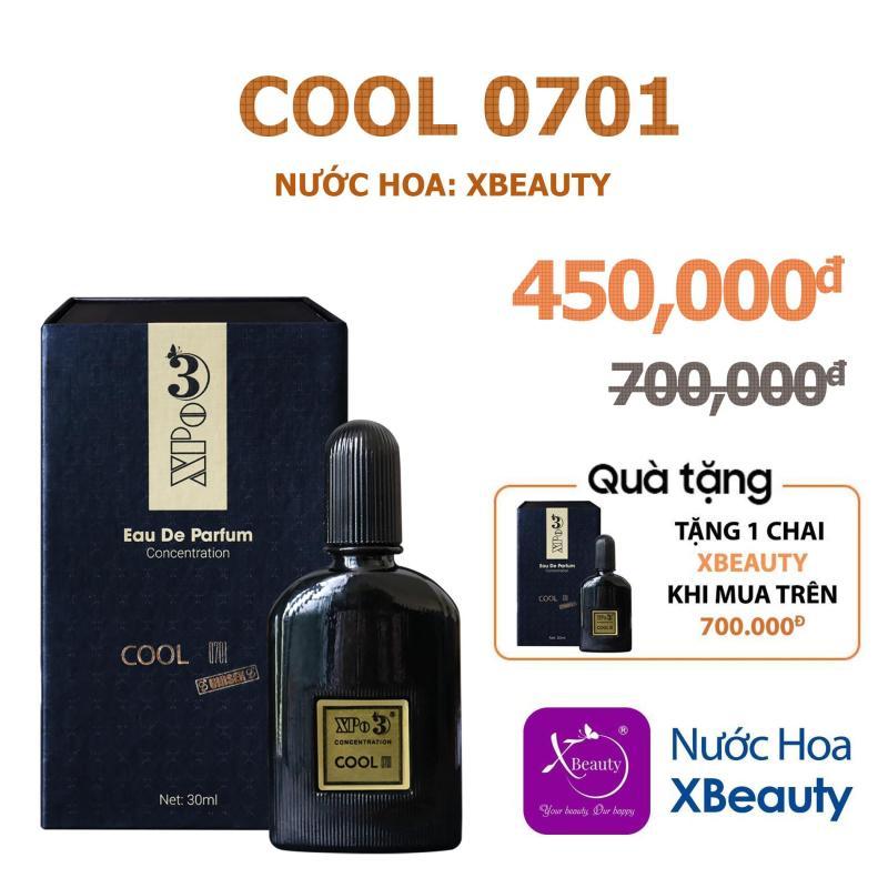 Nước hoa Nam Nữ XBeauty XPo3 Cool 0701 30ml (GTIN: 8938511722109). Nước hoa cô đặc thơm lâu dành cho Nam & Nữ (Unisex) nhập khẩu