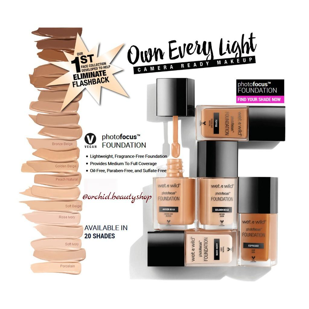 Kem nền Wet n Wild Photo Focus Foundation Fond De Teint - 30ml [Authentic100%] tốt nhất