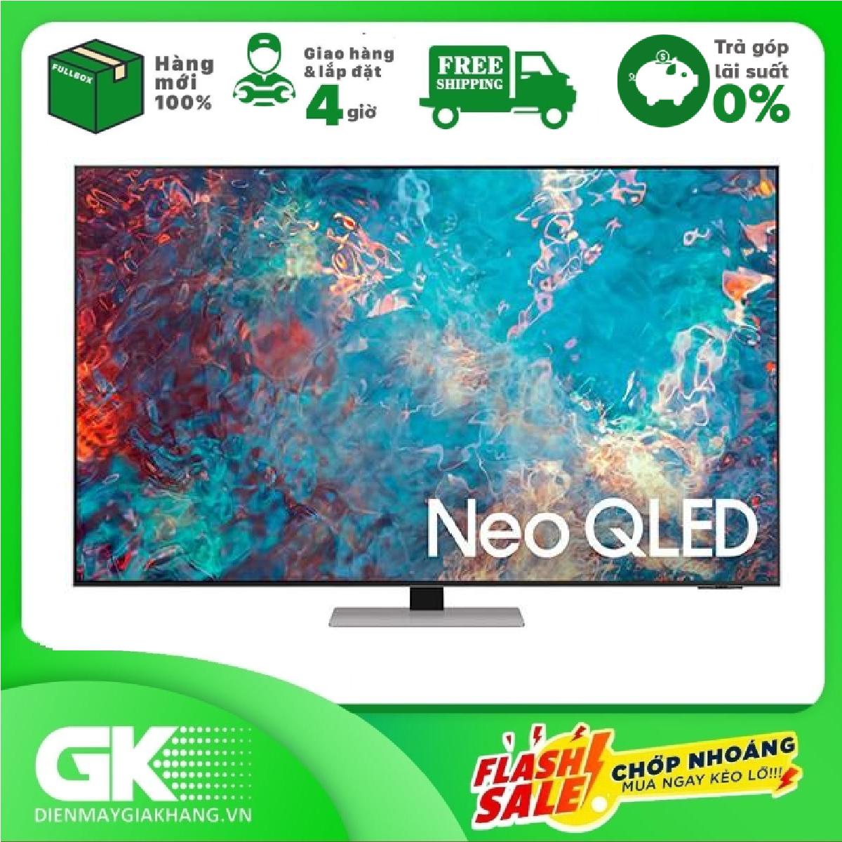 [Nhập ELAPR21 giảm 10% tối đa 200k đơn từ 99k]Smart Tivi Samsung Neo QLED 4K 85 inch QA85QN85AA