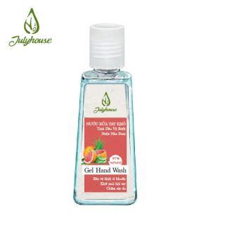 Gel rửa tay khô tinh dầu Bưởi Chùm Trà Xanh Sả Java Tràm Trà và Nha Đam - 2 Kích cỡ 60ml và 80ml Lựa Chọn - JULYHOUSE thumbnail
