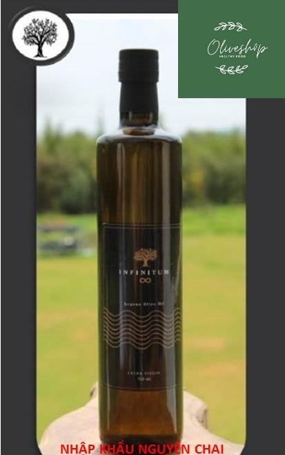 Dầu ô liu 750ml nguyên chất tự nhiên 100% INFINITUM Extra Virgin Olive Oil ép lạnh, không chất bảo quản nhập khẩu nguyên chai từ Thổ Nhĩ Kỳ phù hợp cả trẻ em, người già, bệnh nhân mỡ máu cao, người ăn kiêng