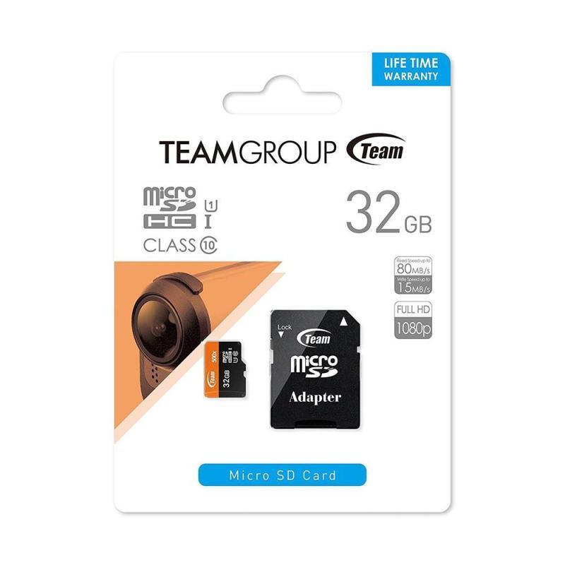 Thẻ nhớ TEAM Micro SD 32GB tặng kèm Adapter - Hàng chính hãng