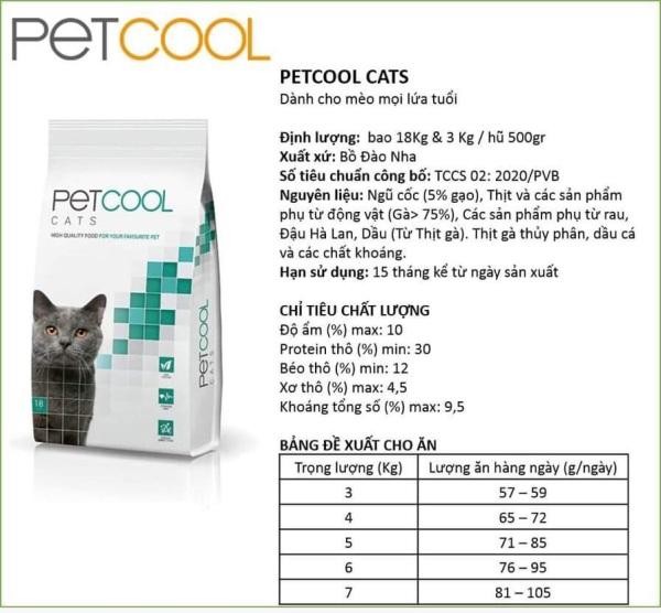 Thức ăn mèo Petcool 3kg nhập Úc