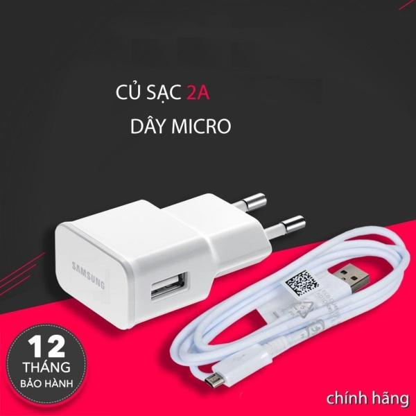 Bộ sạc nhanh samsung 2A dây micro usb dành cho J2,J3,J4,J5,J6,J7,J8... -Bh chính hãng